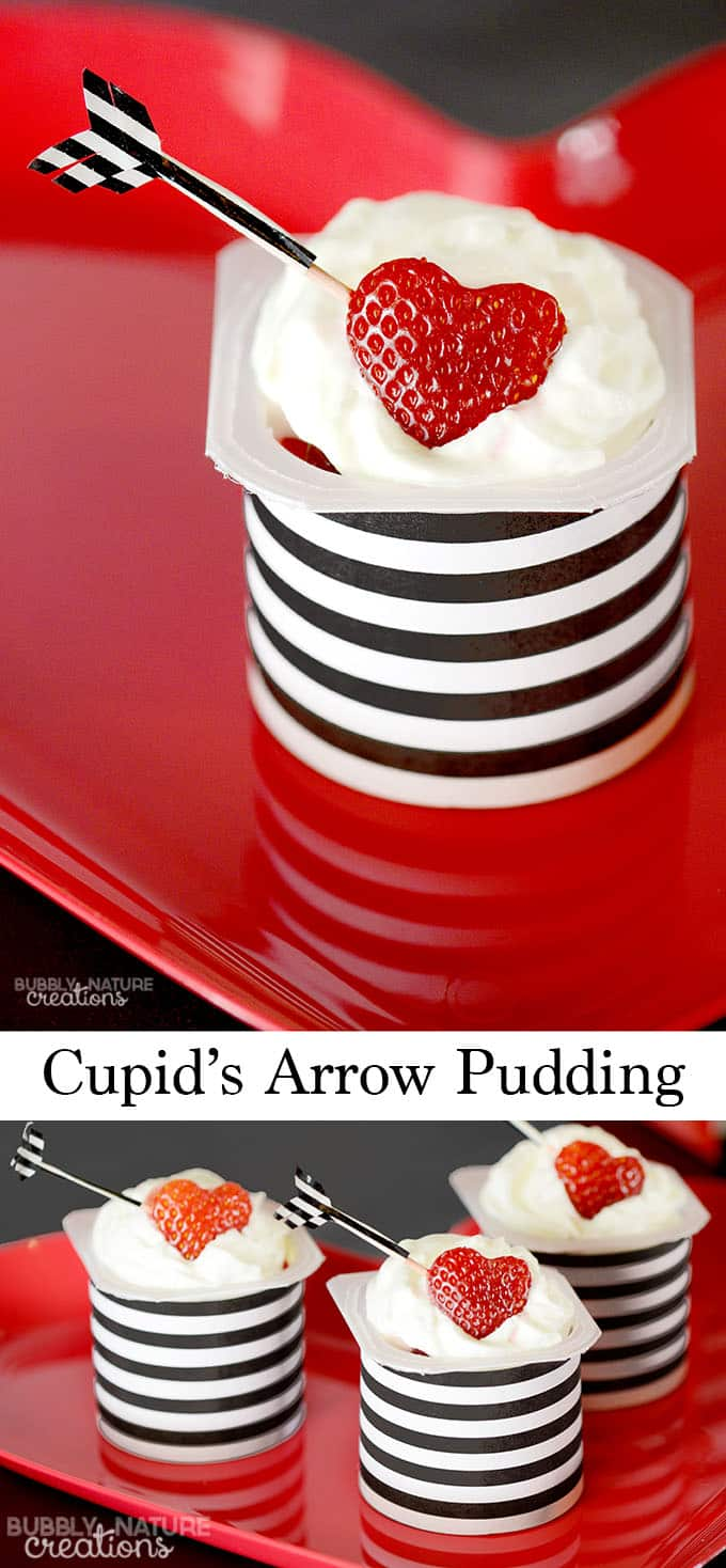 Cupid's Arrow Pudding with Snack Pack Pudding!