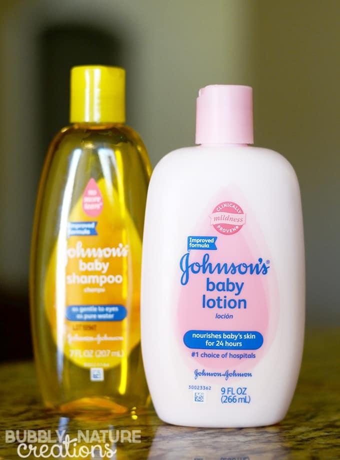 Johnsons Baby Shampoo and lotion