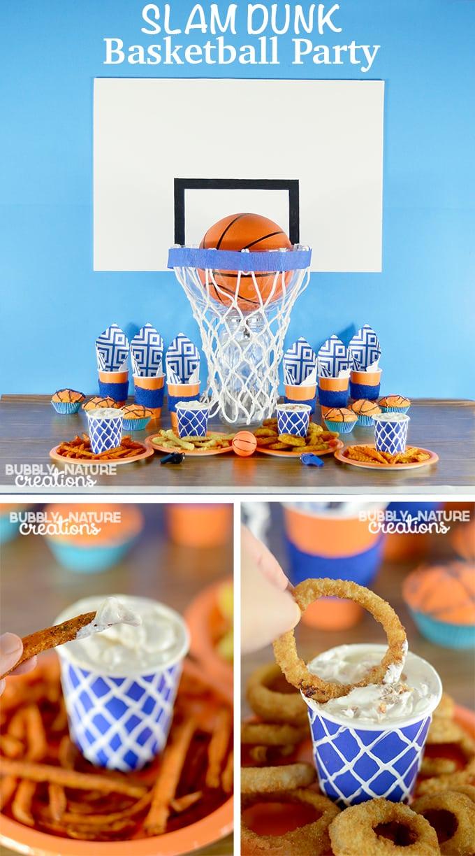 Slam dunk basketball party ideas copy 1 sprinkle some fun for Basketball craft party ideas