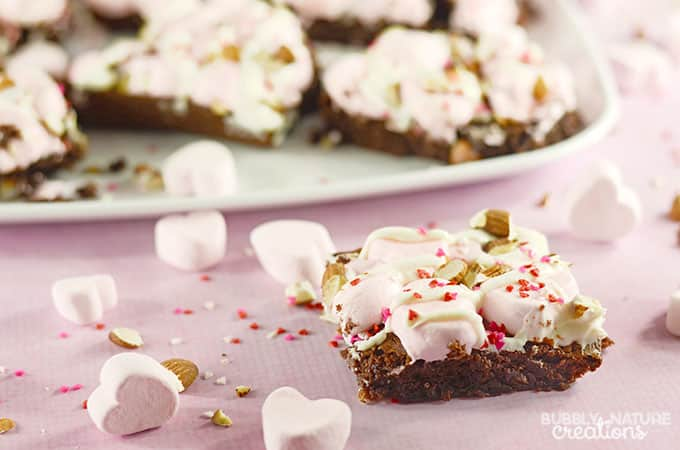 Valentine Rocky Road Brownies!