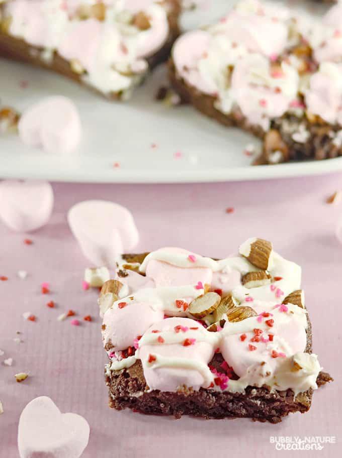 Valentine Rocky Road Brownies! Easy Valentine Dessert!