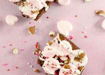 Valentine Rocky Road Brownies!! Easy Valentine Dessert!