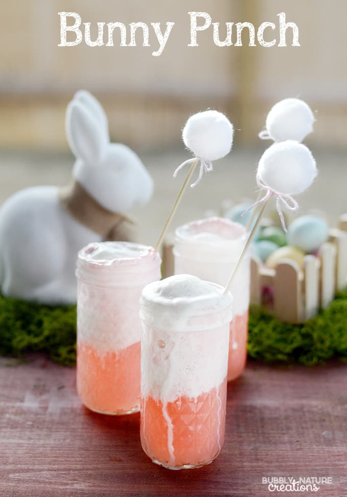 Bunny Punch! Fun Drink Idea for Easter!