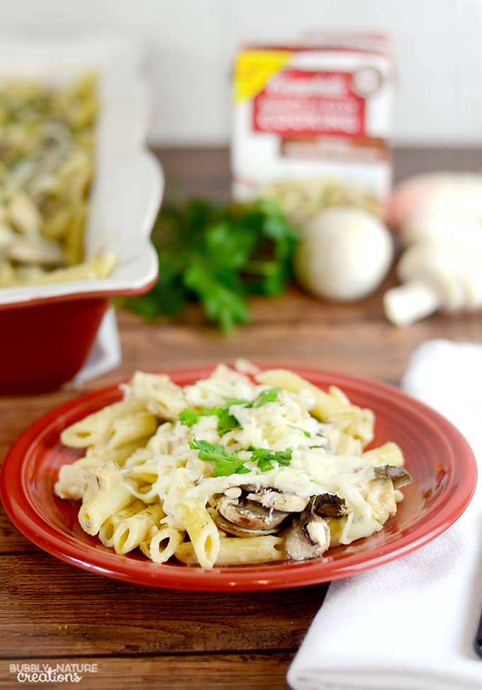 Chicken and Mushroom Pasta Bake!  #WeekNightHero #ad