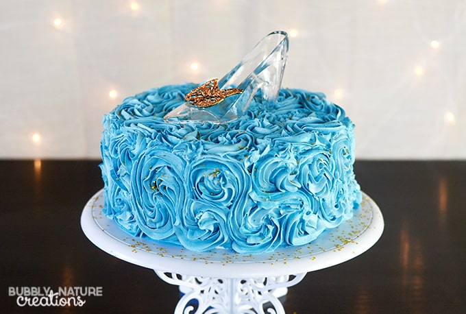 Cinderella Cake with Glass Slipper Tutorial ⋆ Sprinkle Some Fun