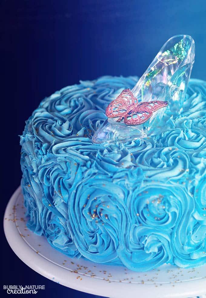 Cinderella Cake with Glass Slipper Easy cake decorating technique