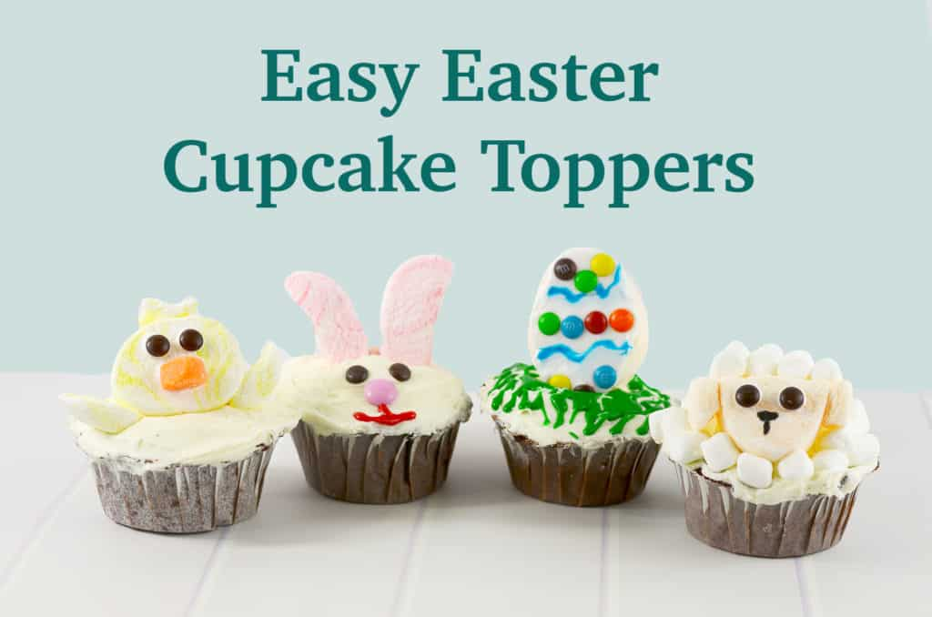 Easy Easter Cupcake Toppers