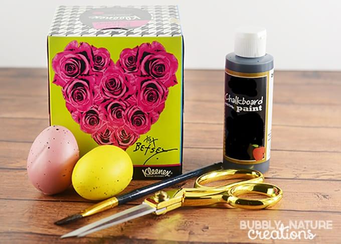 Kleenex Box Easter Basket and Egg Holders Craft #KleenexBetsyStyle #ad