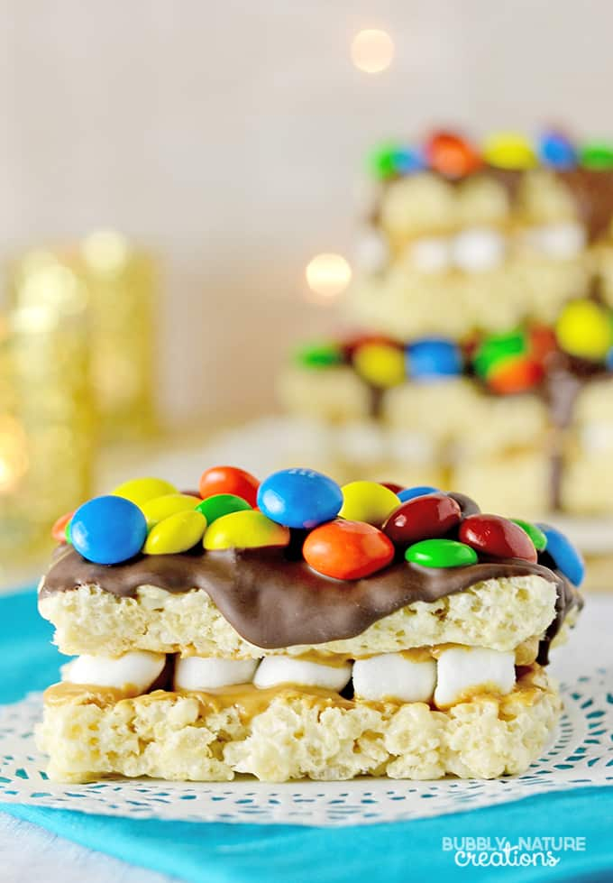 Monster Rice Krispie Treat Sandwich