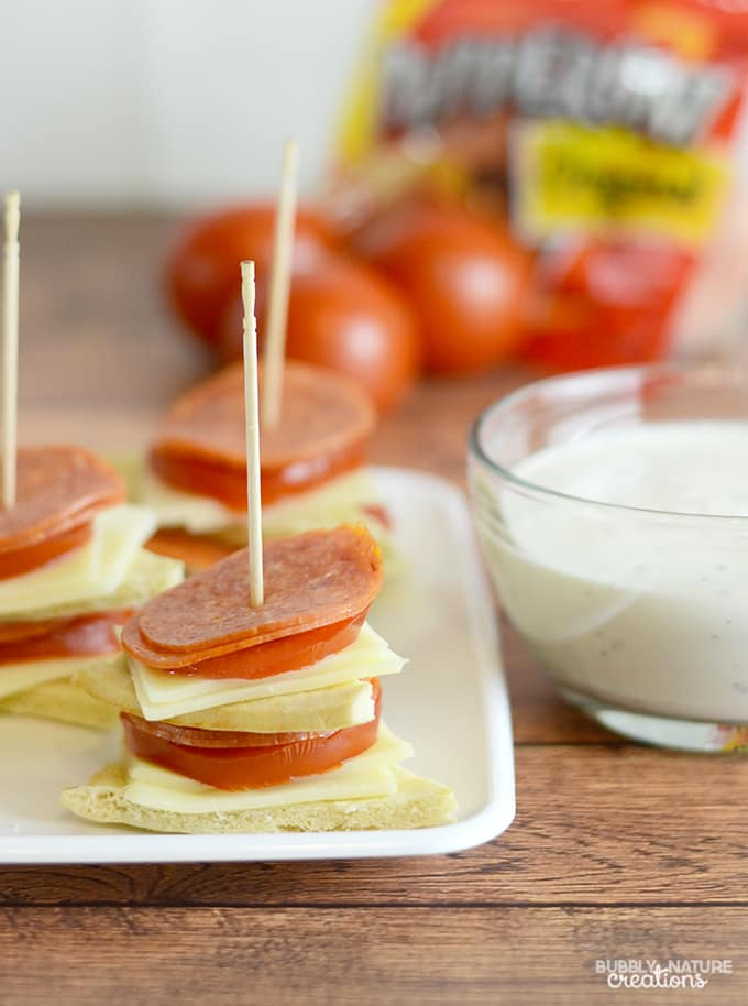 Pepperoni Pizza Stackers! Easy Appetizer Idea