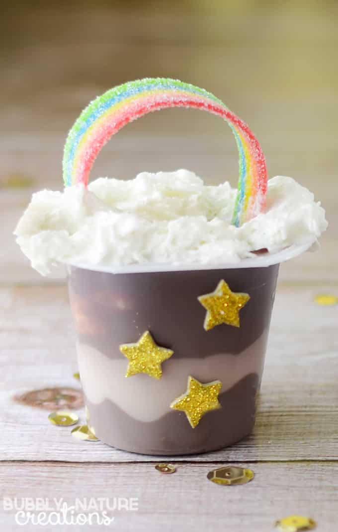 Rainbow Pudding Cups! Easy St. Patrick's Day Snack Idea