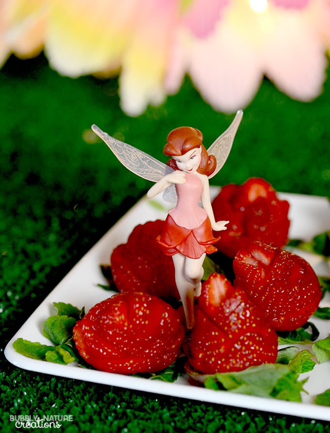 Rosetta's Strawberry Roses! Easy Tinkerbell Party treat!