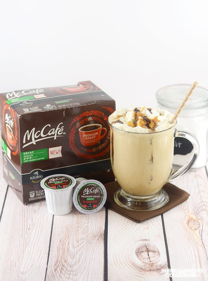Salted Caramel Mocha Frozen Coffee! Low Carb and delicious!