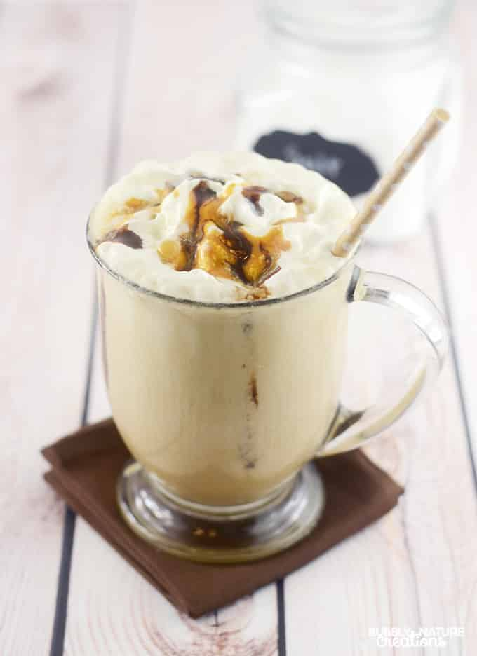 Salted Caramel Mocha Frozen Coffee!!  Low Carb... and totally delicious!