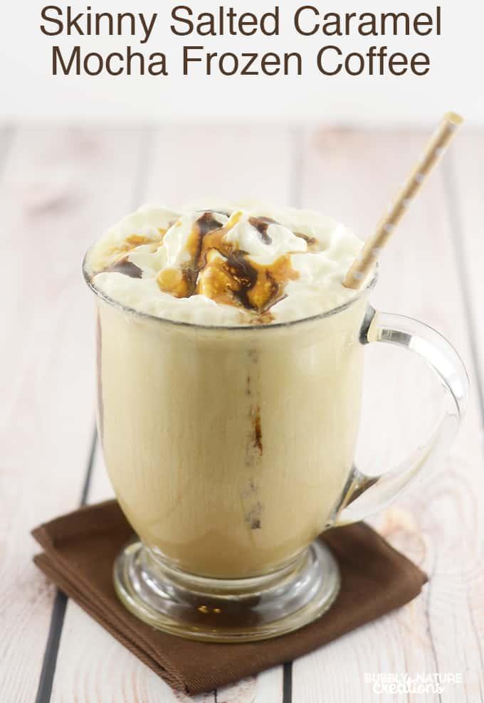 Skinny Salted Caramel Mocha Frozen Coffee!