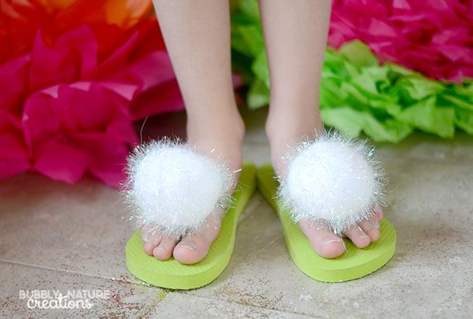 Tinker Bell inspired Flip Flops!