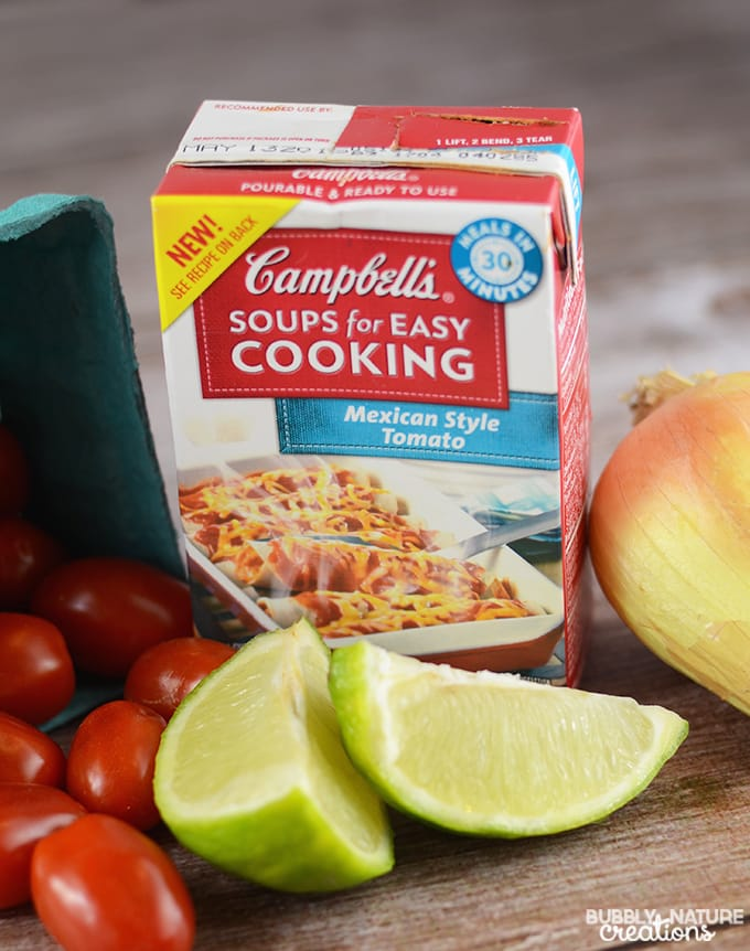 Campbell's Soups for Easy Cooking in Mexican Tomato