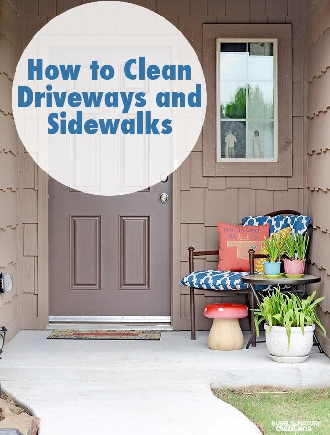 How to Pressure Wash Driveways and Sidewalks to look like new again!  #ZepSocialStars #ad