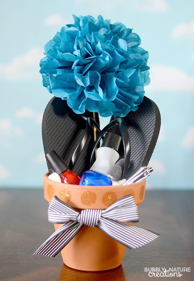 Pedi Flower Pots!  Fun way to gift pedi products!
