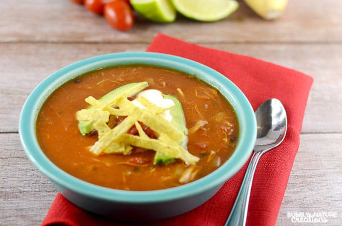 Quick and Easy Chicken Tortilla Soup!