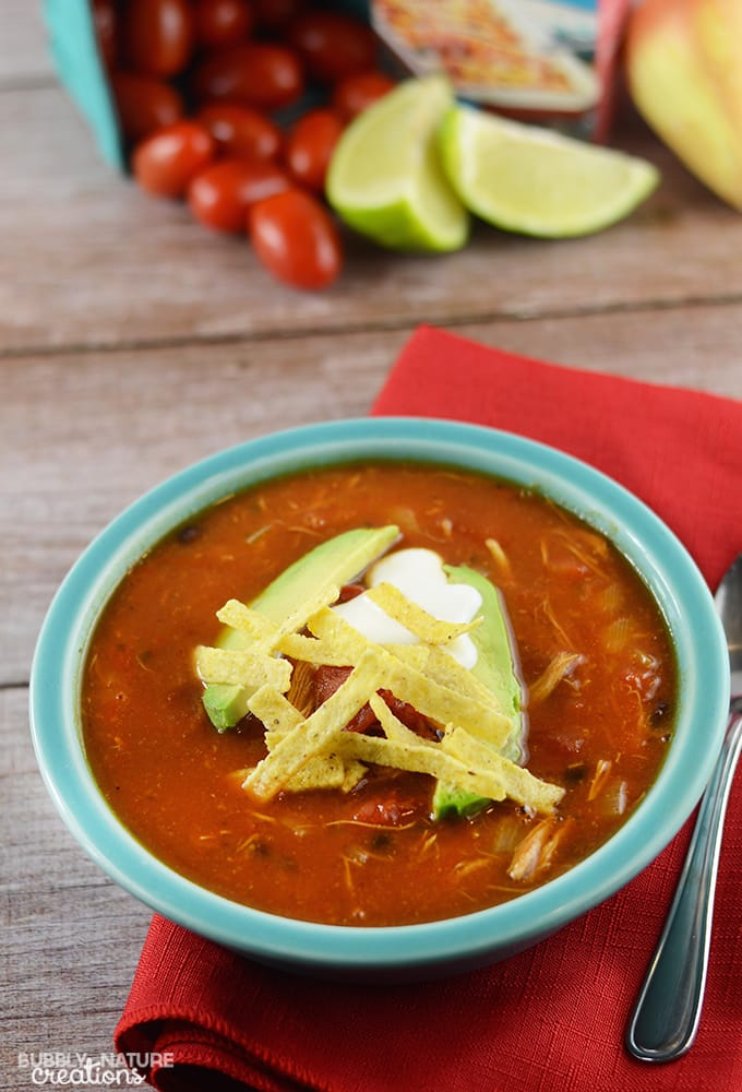 This Quick and Easy Chicken Tortilla Soup shop has been compensated by ...
