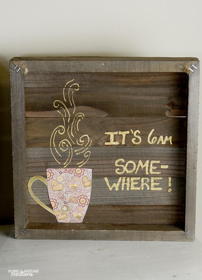 Easy Coffee Bar Art!