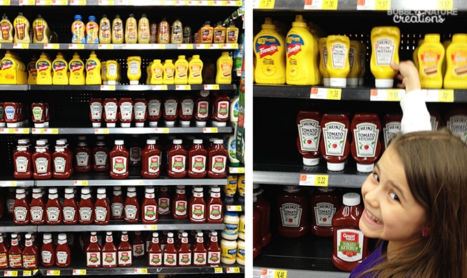Heinz Mustard and Ketchup