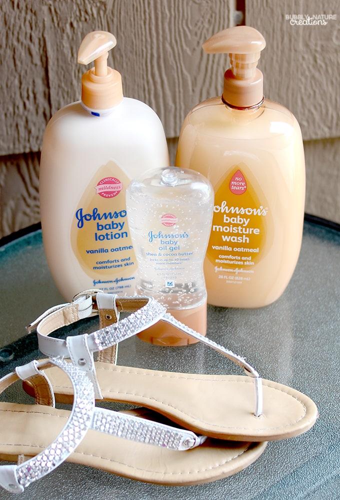 JOHNSON'S® baby moisture lotion with vanilla oatmeal!