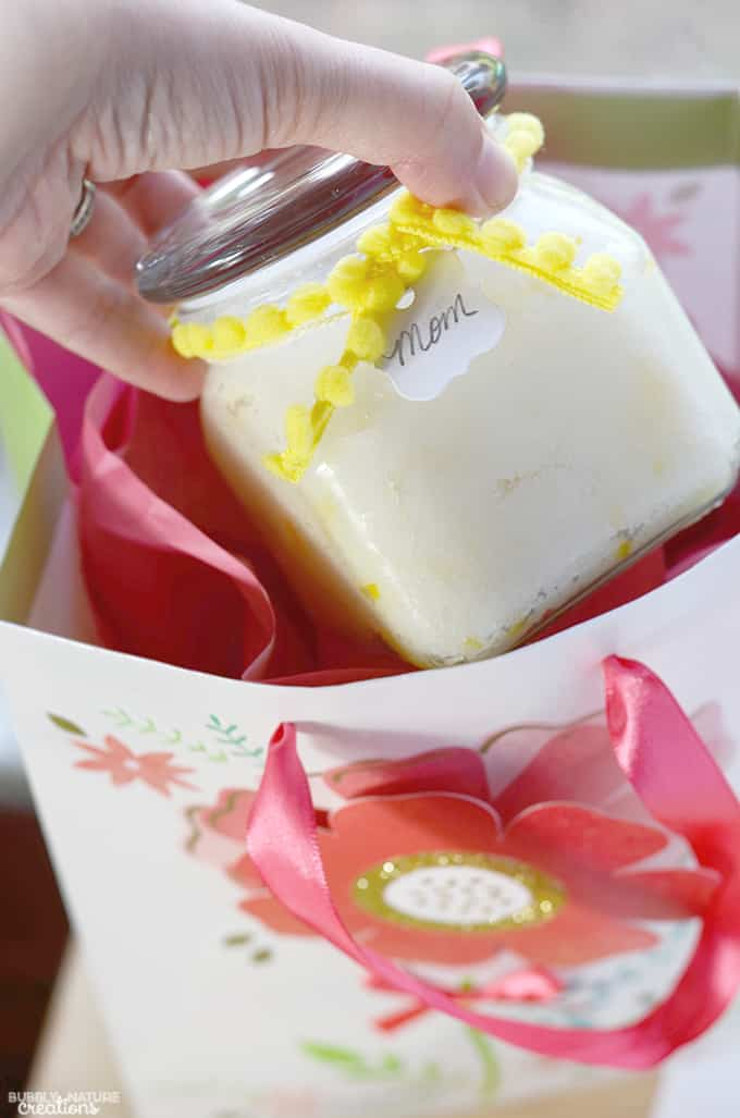 Lemon Meringue Sugar Scrub!!!  Smells delicoius and is super moisturizing.