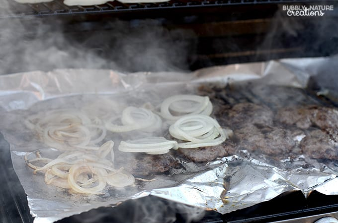 Onion Burgers on the Grill