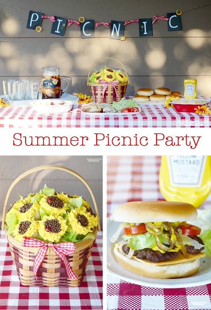 Summer Picnic Party! Fun way to get the family together!