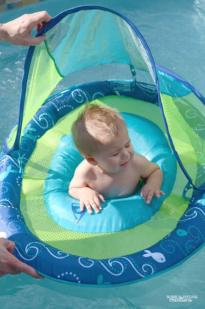 Swim Ways Baby Spring Float For Introducing Baby To Water Sprinkle Some Fun