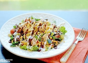 BBQ Chicken and Ranch Chopped Salad!  Yummy salad recipe to make at home!!