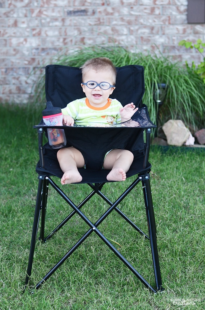 ciao baby PORTABLE High Chair Review Sprinkle Some Fun