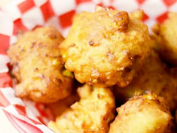 Corn Dog Fritters · Little Bites of Goodness