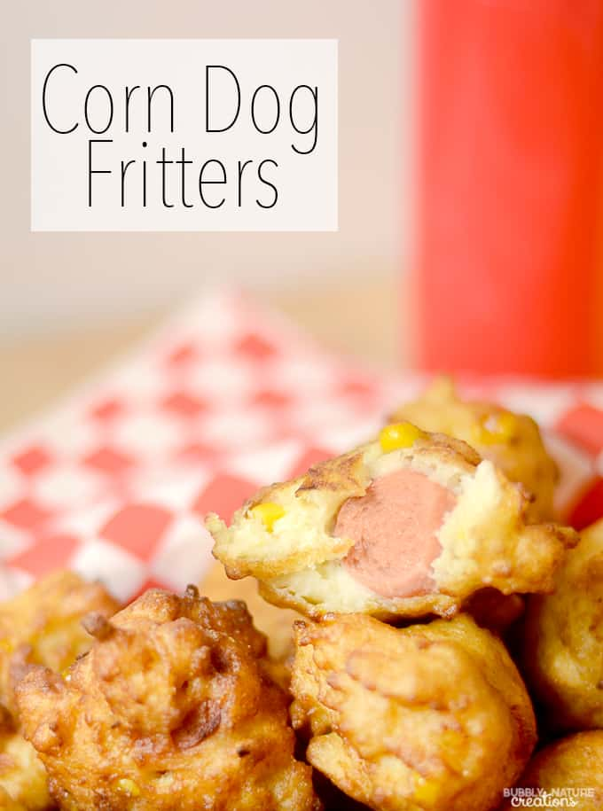 Corn Dog Fritters!! Prepare corn dogs in a cream of corn batter! Easy corn dog idea! copy