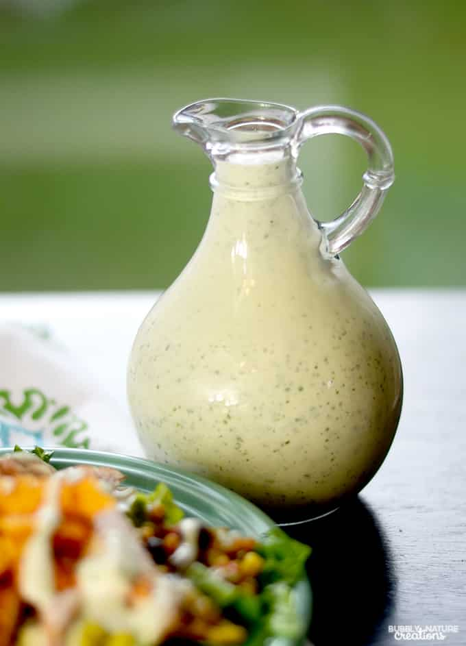 Easy Cilantro Lime Dressing!  Easy recipe for a gourmet salad dressing flavor!