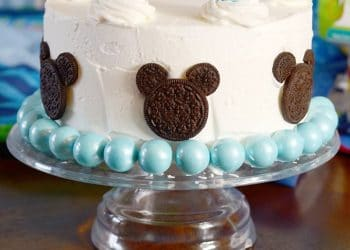 Mickey Mouse Cake for a Disney Baby Shower!