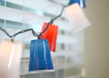 Plastic Cup Hanging Lights with Solo cups!