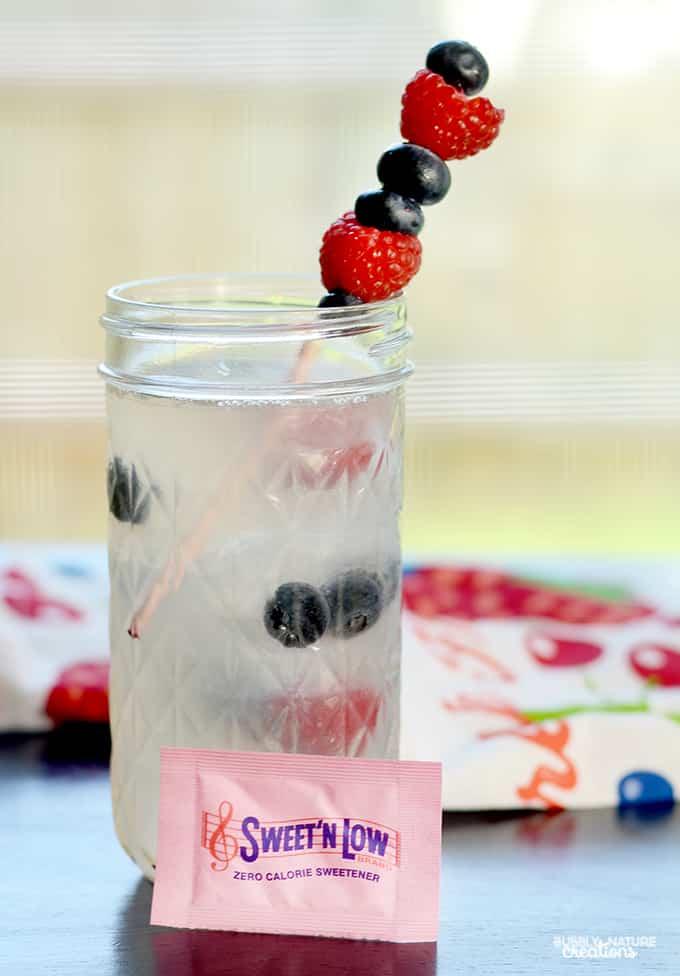 Red, White and Blueberry Lemonade! Easy Summertime Drink!