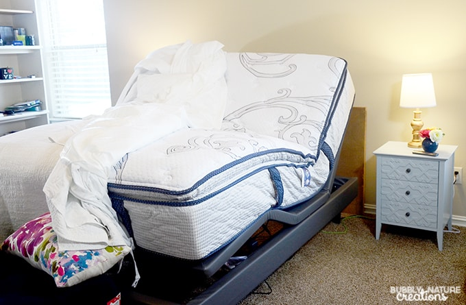 Best Ways to Get a Better Sleep... room refresh and a new adjustable Serta Mattress!