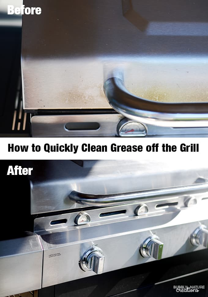 How to Quickly Clean Grease off the Grill.!