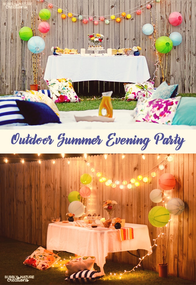 Outdoor Summer Evening Party!