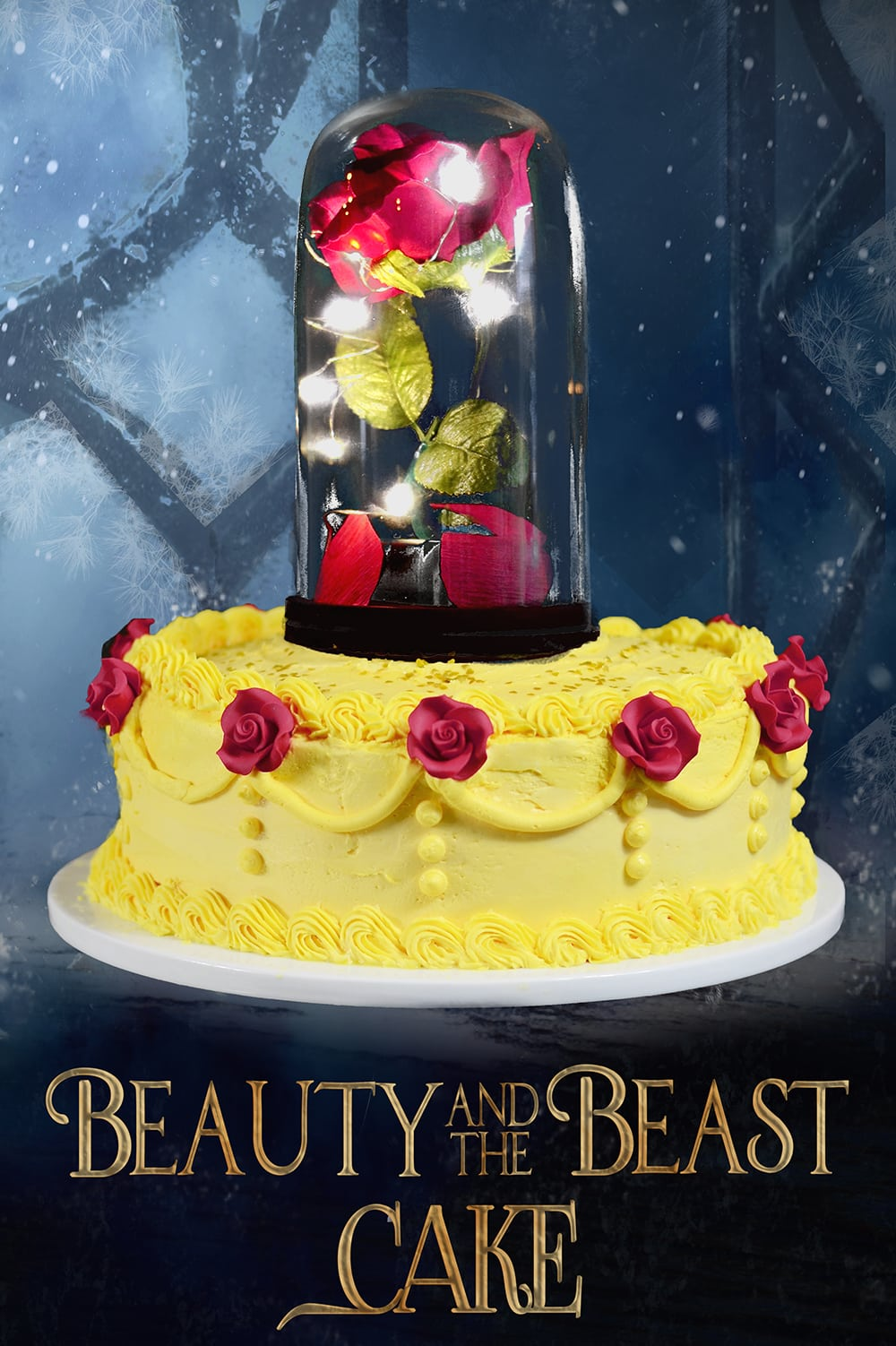 Beauty and the Beast Cake Video Tutorial • Sprinkle Some Fun