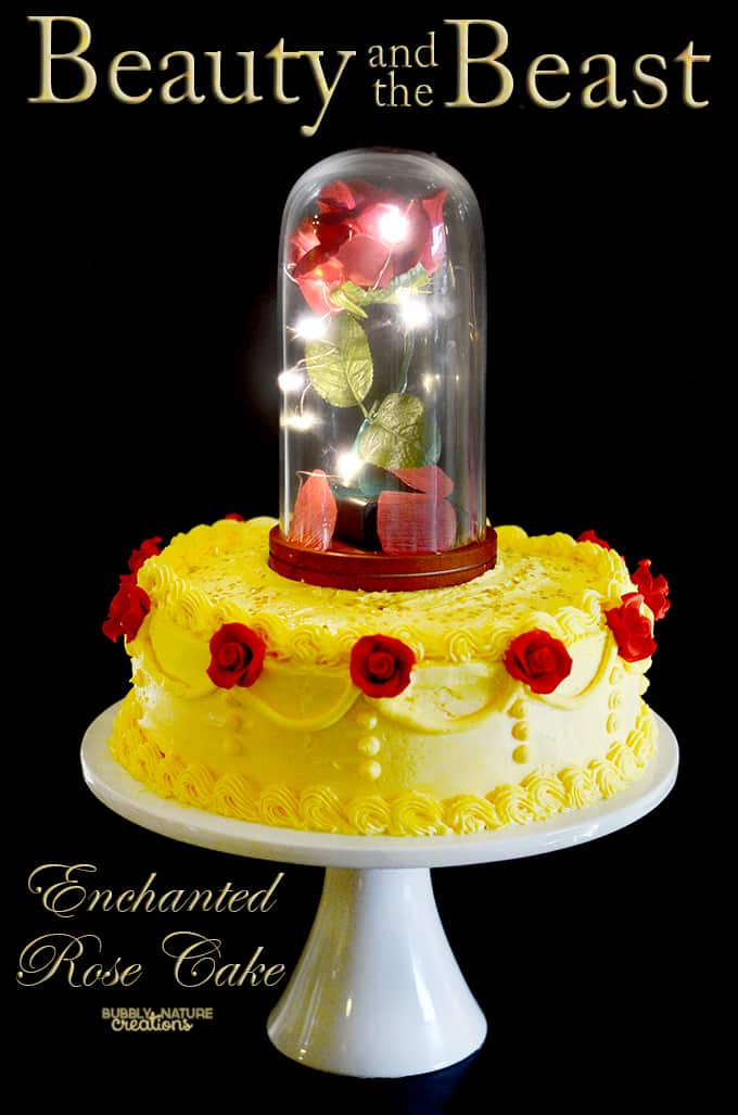 Beauty And The Beast Enchanted Rose Cake 1 1 Sprinkle