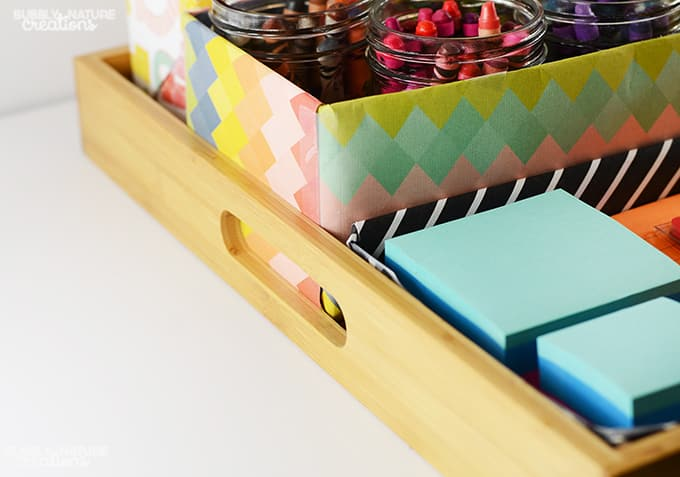 DIY School Supply Station!!  Easy way to organize all the school supplies!