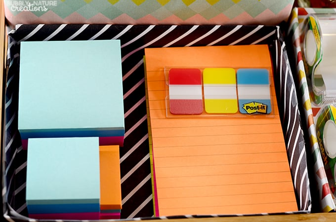DIY School Supply Station!!!  Easy way to organize all the school supplies!