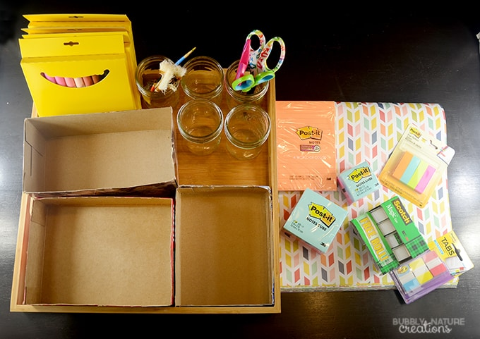 DIY School Supply Station!!!  Easy way to organize all the school supplies!!