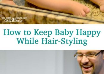 How to keep baby happy while hair styling!  These ideas will help!