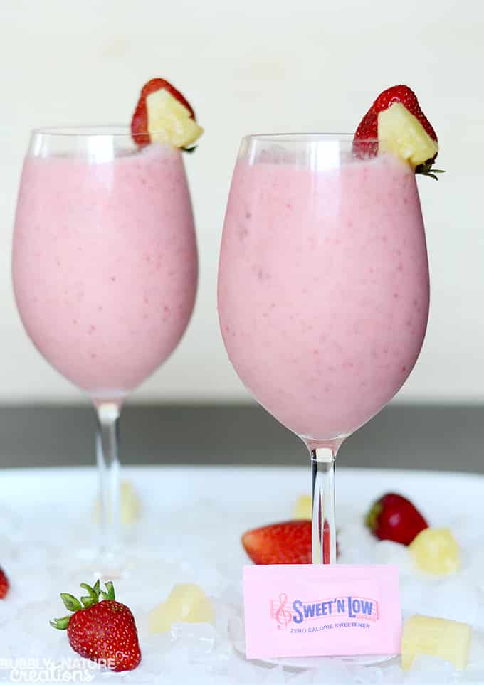 Virgin Strawberry Colada!! Cool sweet drink idea.